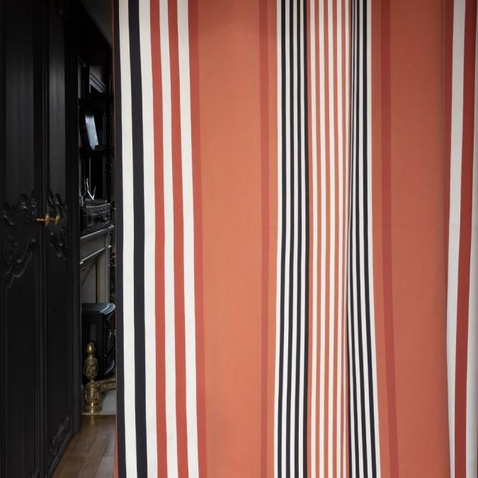 Rideau Ainhoa couleur Fronton en coton