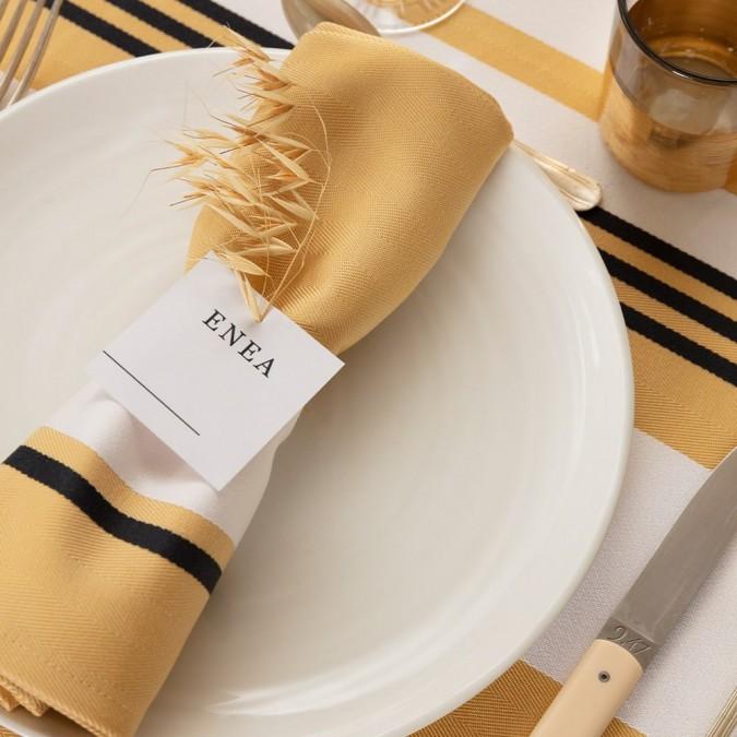 Serviette de table Donibane Laiton 50x50 cm