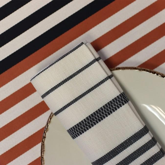 Serviette de table Berrain Fusain 50x50 cm en coton