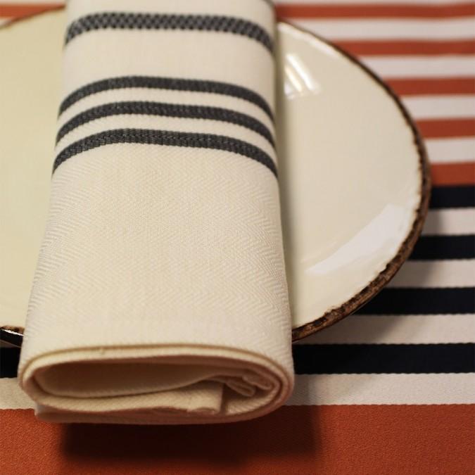 Serviette de table Berrain Fusain 50x50 collection 2021