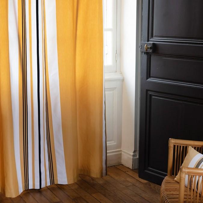 Rideau Donibane couleur Laiton en coton