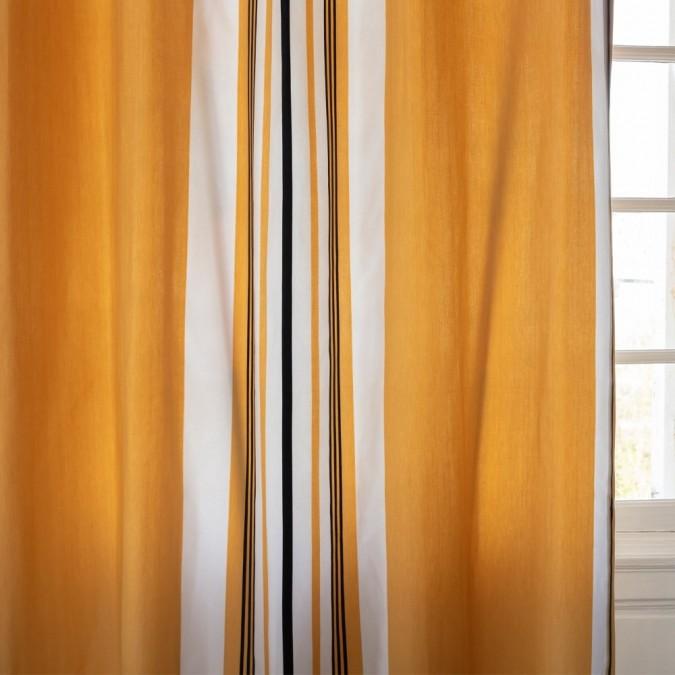 Rideau Donibane couleur Laiton 100% coton chevron