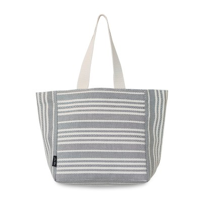 Sac shopping Souraide Ivoire 47x31x17 cm