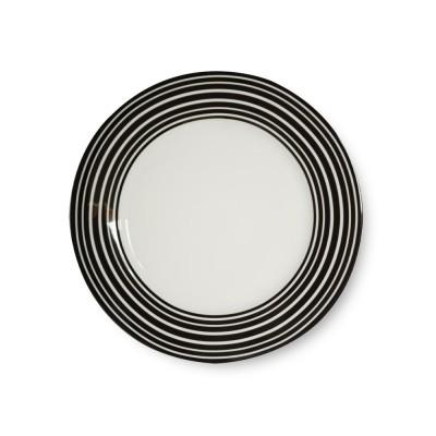 Assiette à dessert collection Héritage couleur Noir