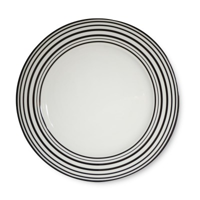 Assiette plate collection Héritage couleur Noir