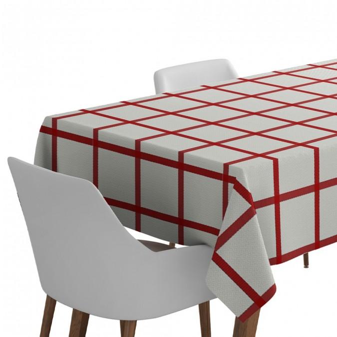 Nappe Leiho basque carreaux rouge