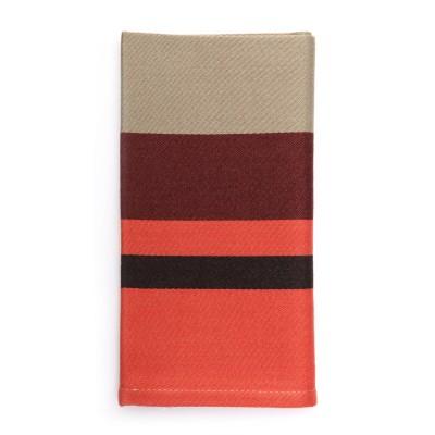 Striped napkin Pampelune Biscuit - Jean-Vier
