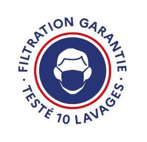 Masque en tissu filtration garantie 10 lavages